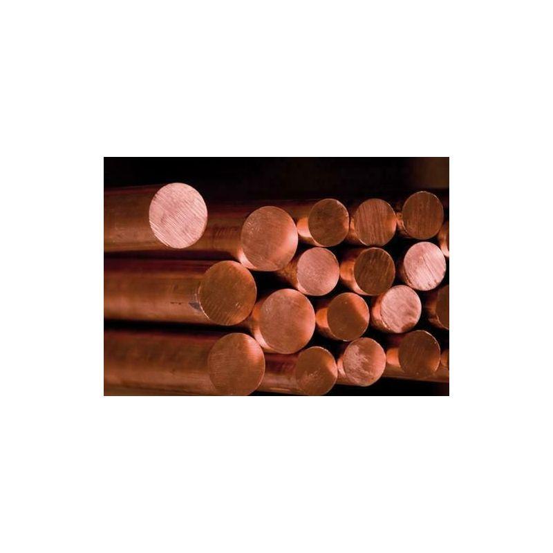 Varilla Ø2-25mm cobre 2.0090 varilla redonda С10999 varilla Cu material redondo 2 metros, cobre