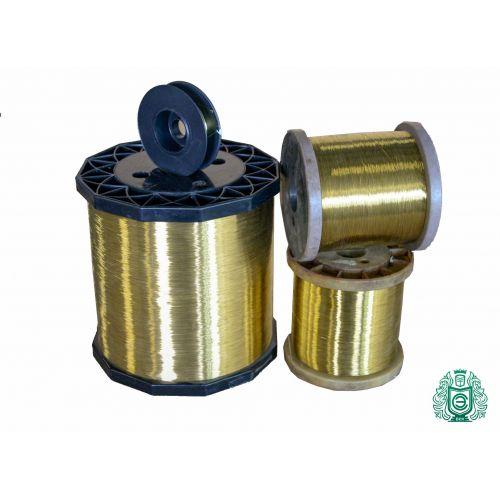 2-500 metros alambre de latón Ø 0.1-0.6mm 2.0401 alambre artesanal Ms58 sin recubrimiento, latón