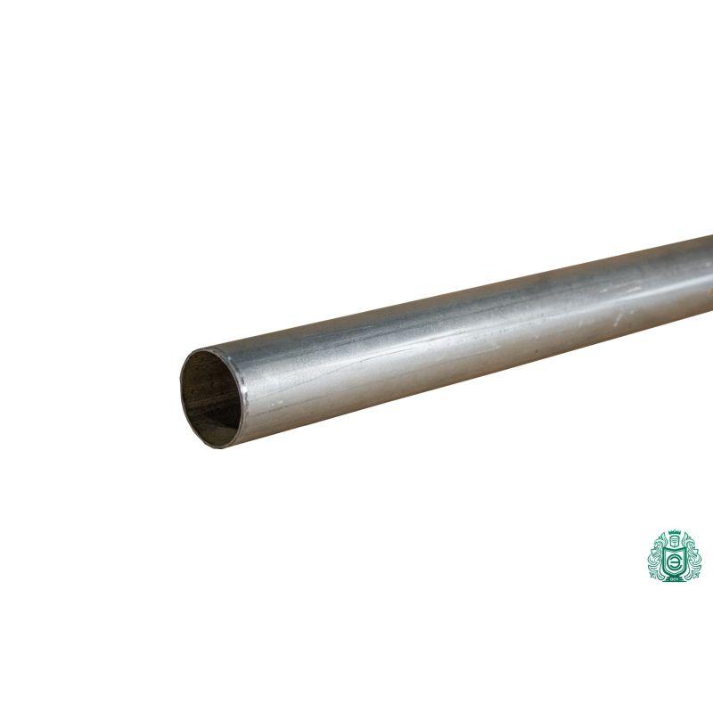 Tubo de acero galvanizado tubo de construcción barandilla hilo metal redondo Ø 50x1,4mm