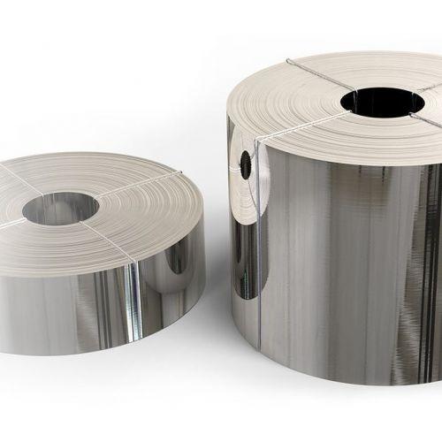 Cinta de acero inoxidable 1.4301 lámina 0.05x20mm a 0.4x200mm V2A 304 lámina de chapa