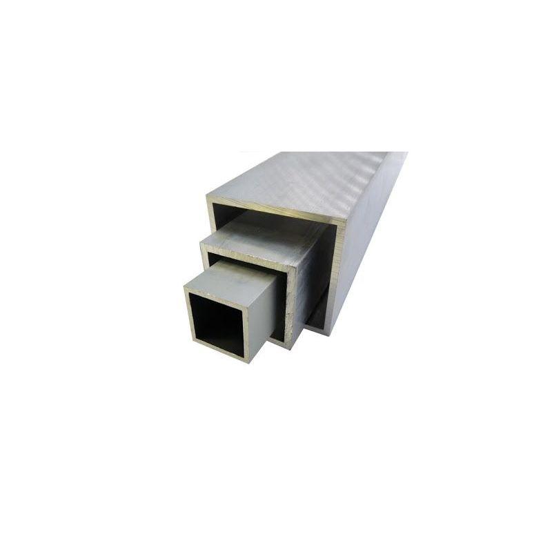 Tubo cuadrado de aluminio 20x20x2-100x100x4mm Tubo cuadrado AlMgSi0.5 0.2-2 metros