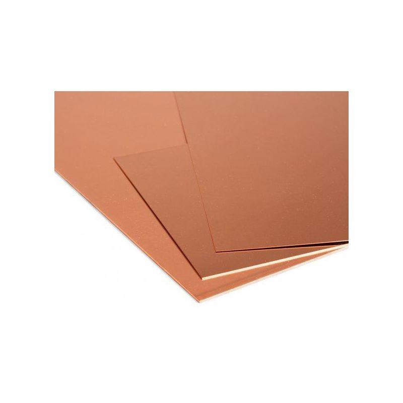Lámina de cobre Placas de 1 mm Lámina de Cu Lámina fina seleccionable de 100 mm a 2000 mm