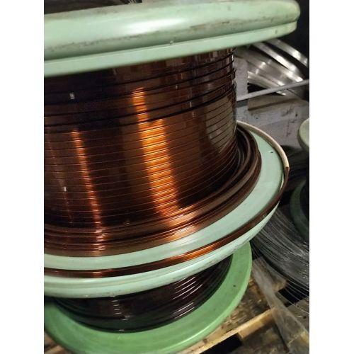 Alambre plano esmaltado Ø 5-18mm alambre de cobre W200 barra plana Cu 99,9% alambre esmaltado para manualidades