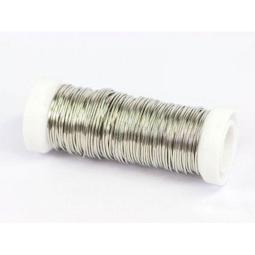 Alambre de cobre de 2-100 metros, alambre de plata, alambre de artesanía, joyería, plateado Ø0.5-1.2mm, cobre