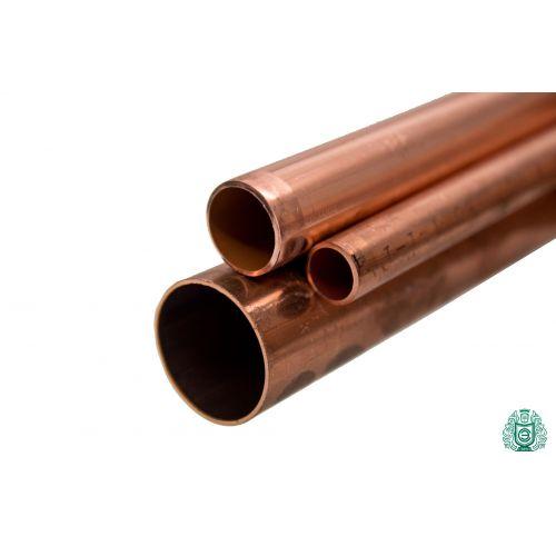Tubo de cobre 3x0.5mm-54x1.5mm varilla 2.0090 Aisi C11000 calentar agua potable 0.1-2 metros, cobre