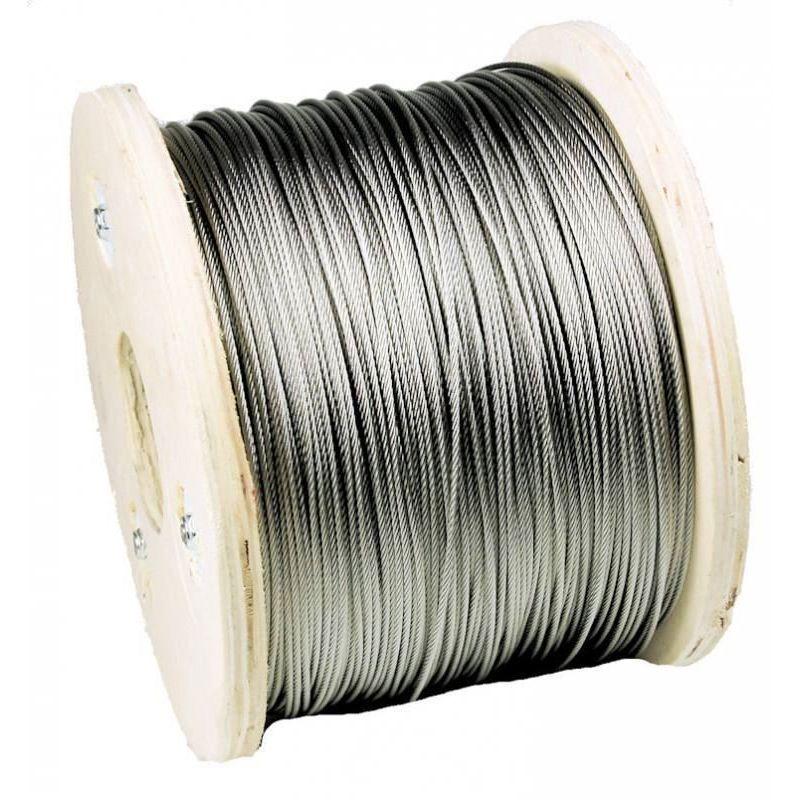1-200 metros de cable de acero inoxidable Ø3mm cable de acero inoxidable cable de acero, acero inoxidable